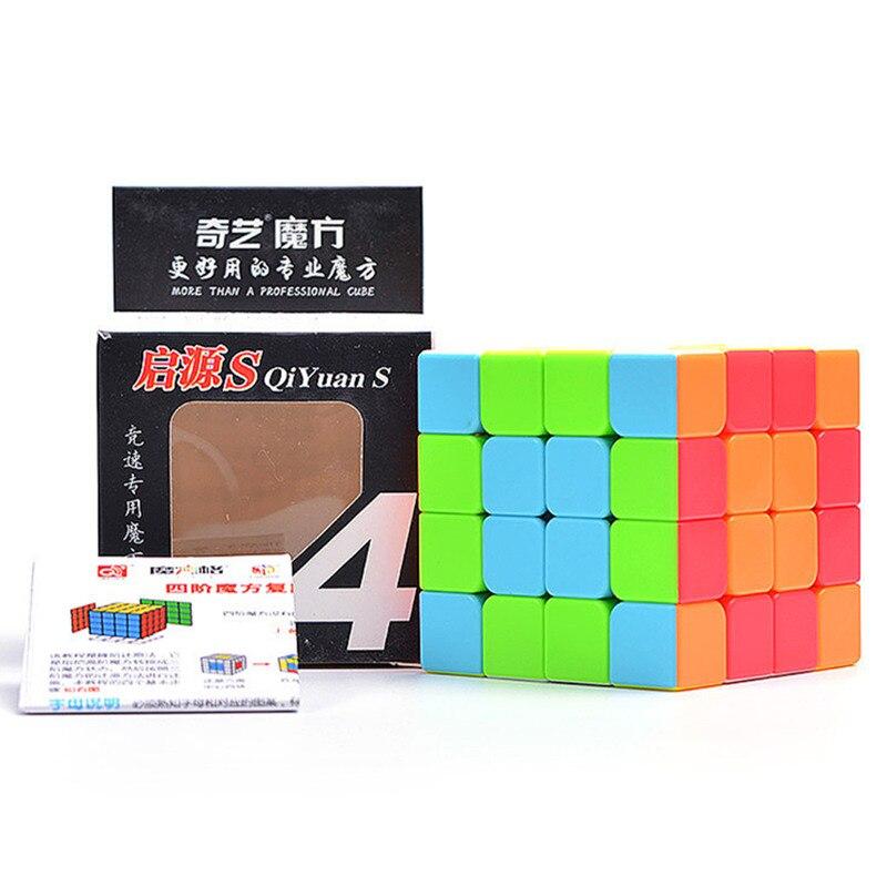 QIYI Cubo de 4 por 4 cubo mágico size62 * 62*62mm 6 colores rompecabezas Speed cubo para los niños juguete de regalo 4x4 cubo