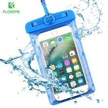 "FLOVEME 6.2""Universal IPX8 Waterproof Phone Case For Huawei P8 P9 Lite Mate 9 Cover Cell Phone Shell For Huawei P9 P10 Lite Bag"