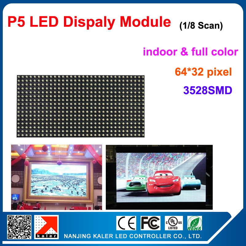 TEEHO High quality <font><b>billboard</b></font> P5 1/16 Scan LED display led module 64*32 pixel 320*160mm led programmable <font><b>sign</b></font> display board image