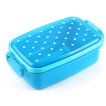 Portable Rectangle Shaped Plastic Food Container