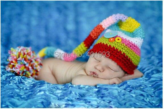 2015 Neue Babymütze Häkeln Neugeborenen Jungen Hut Elf Strumpf Hut