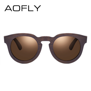 Image 3 - AOFLY BRAND DESIGN Women Sunglasses Polarized Cat Eye Sun Glasses Wooden Frame Vintage Handmade Bamboo Gafas UV400 AF603