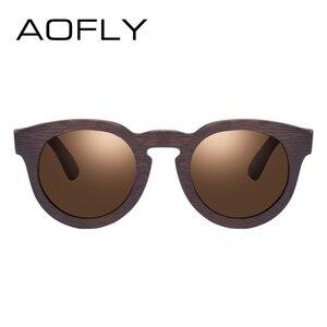 Image 3 - AOFLY MARKE DESIGN Frauen Sonnenbrille Polarisierte Cat Eye Sonnenbrille Holz Rahmen Vintage Handgemachte Bambus Gafas UV400 AF603