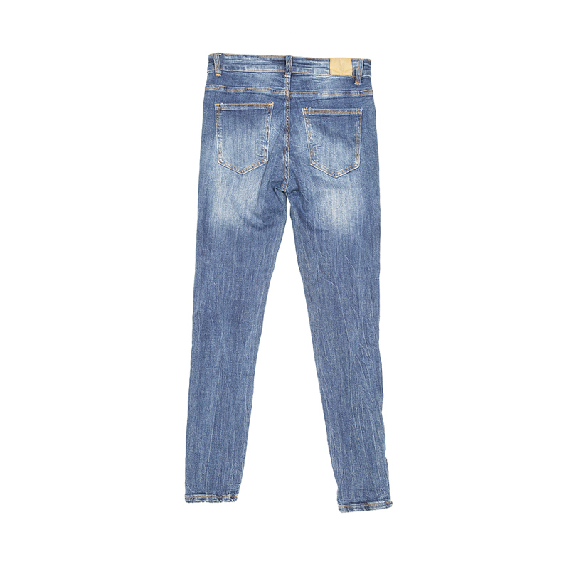 My Will Jeans Ladies Blue Cropped Trousers Jeans 1198 Made In China