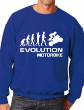 Evolution Of Motorbike/Biking Sweatshirt/Jumper Unisex Birthday Gift More Size and Color-E245