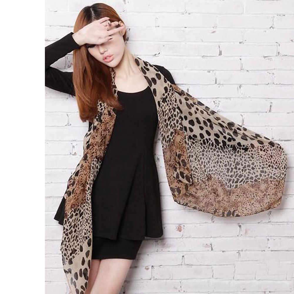 Verão outono 2019 cachecol feminino chiffon leopardo impressão pouco seda envolve laço de cabelo banda neckerchief multi-purpose envolve feminino @ 30