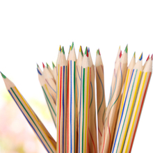 (6 Pieces/Lot) Wooden Rainbow Color Pencil for Painting Kids Graffiti Drawing Stationery School Supplies Joy Corner