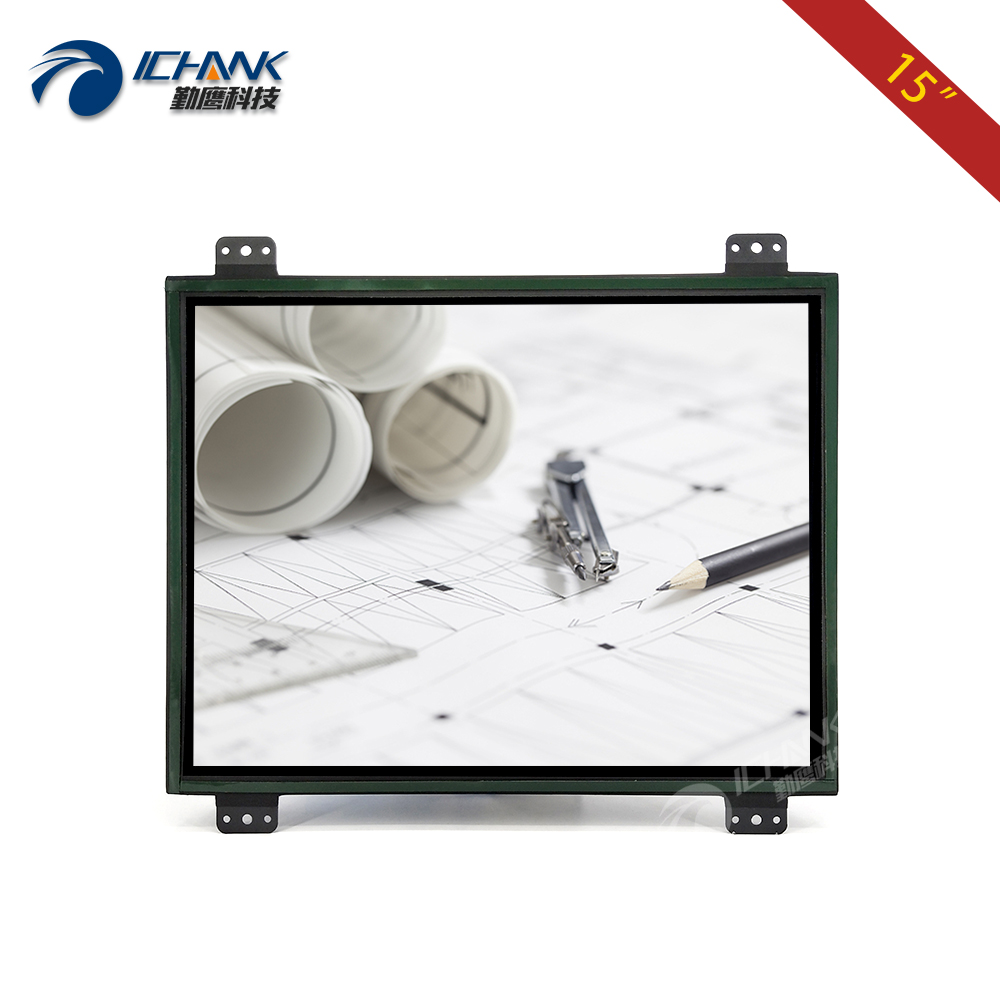 ZK150TN DV 15 inch 1024x768 HD DVI VGA Metal Case Embedded Open Frame Quick Installation Industrial