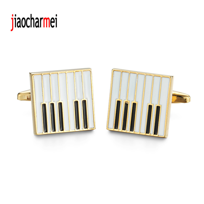 High quality mens shirts Cufflinks new fashion boutique car logo golden piano cufflinks, French shirt accessories