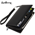 Men Long Wallet 2016 Fashion Leather Handbags With Zipper Male Clutch Bags Multifunction High Capacity Phone Bag Purse carteira