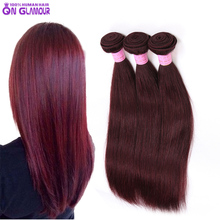 Grade 7A Indian virgin hair straight 3pcs lot queen hair products, hot burgundy Indian hair 10″-30″ remy human hair extension