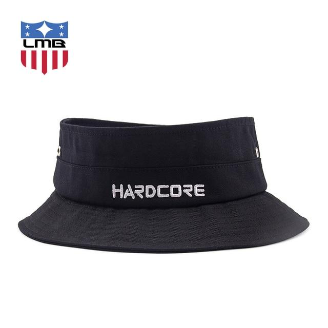 7b946593abe LMB Without Top Big brim Cotton Casual Outdoor Summer Women Bucket Hat  Vintage Panama Unisex Fishing Caps Men s Fisherman Hats