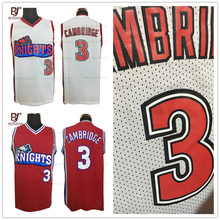 ab3f70b680e9 BONJEAN Men Throwback Basketball Jerseys Like Mike Movie Knights  3 Calvin  Cambridge Embroidered Stitched Jersey