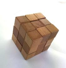 Magic Cube 3x3x3 The puzzle Disassembly and assembly children s wooden toys