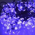 Purple Solar Led String Lights Blossom Christmas Garden Party Decorations Decorative Flower String Lights WaterProof 50 LED