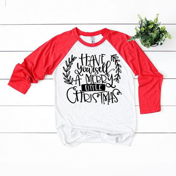 Do It Yourself Christmas Shirts.Us 9 99 30 Off Have Yourself A Merry Little Christmas Funny Graphic T Shirt Women Long Sleeve Raglan Tshirt Festival Clothes Plus Size 3xl Tops In