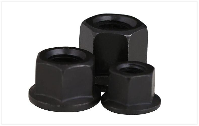 Brida de acero al carbono tuercas con tuerca pad platina tuercas hexagonales negro espesado tuerca M10 M12 M14 M16 M18 M20 M22 m24 M27 M30 tuerca