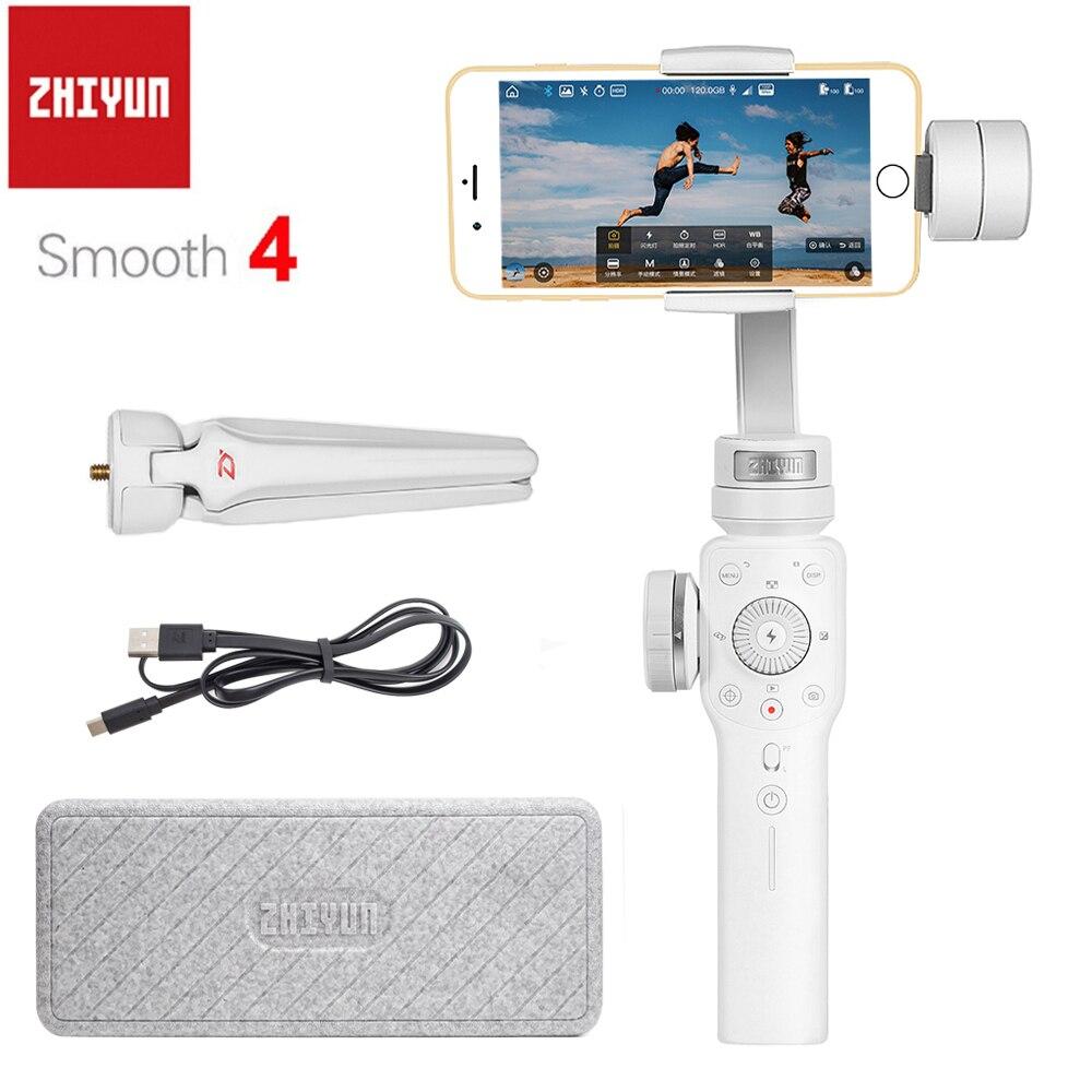 Zhiyun Officielle Lisse 4 3-Axes De Poche Smartphone Cardan Stabilisateur Portable pour iPhone Samsung Camera Action PK Feiyu Vimble2