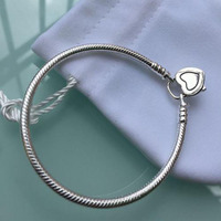 New Bracelets 100% 925 Sterling silver Original classic bracelet \ original bracelet collocation DIY Original charm jewelry