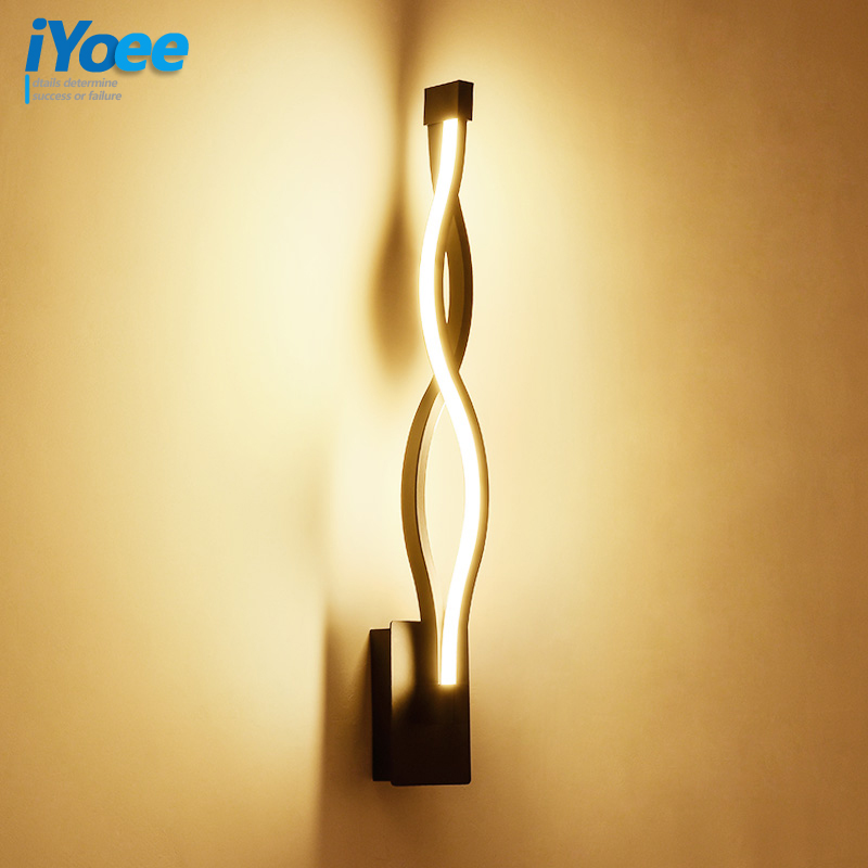 iYoee 16W LED Wall Lamp Modern Bedroom Beside Reading Wall Light Indoor Living Room Corridor Hotel Room Lighting Decoration free shipping of professional 75 72 m22 carbide tipped wall hole saw for air condtiional holes opening on brick concrete wall