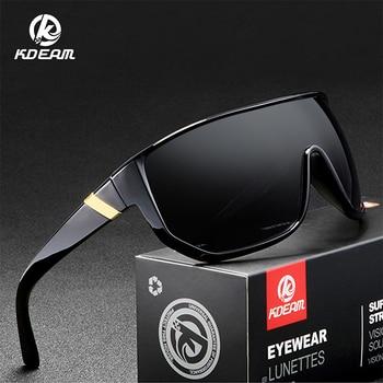 f666b983ec KDEAM diseño Original gafas de sol de gran tamaño para hombre gafas de  marco a prueba de viento gafas de estilo deportivo sombras cuadradas para  hombre ...