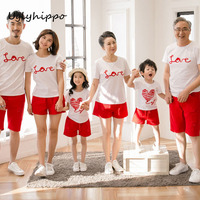 Family Matching Clothing Mother And Daughter Clothes T Shirt Father Son Outfits Cotton Letter Dad Son