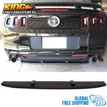 Подходит для 13-14 Ford Mustang V6 V8 задний центр бампера Диффузор сплиттер полиуретановый Глобальный по всему миру