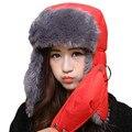 Winter Warm Earflap Bomber Caps Scarf Men Women Russian Trapper Hat Aviator Trooper Earflap Snow Ski Hat Cap