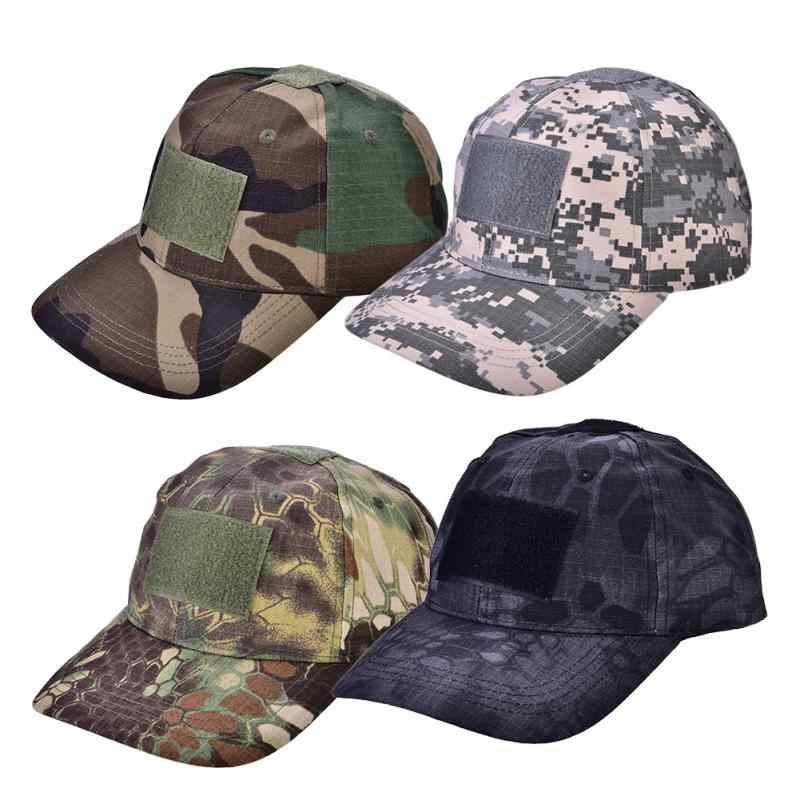 e36a576747a Outdoor Sport Hunting Caps Camouflage Hat Adjustable Sunshade Hat  Simplicity Tactic Military Camo Hunting Cap Unisex