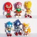 6 unids/lote 3 pulgadas 7 cm SEGA Sonic the Hedgehog Figura de Acción de Juguete Personajes de Sonic Figura Juguetes Brinquedos Muñeca Con Envío rápido