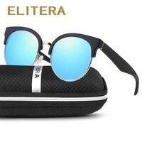 ELITERA Cat Eye Sunglasses Women Polarized Brand Designer Sun Glasses For Women Retro HD Lens Oculos