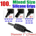 """Solong Tattoo100 x Disposable Tattoo Grips Tube Assorted Mixed Size for Needle Ink Kit 1"""" (25mm) G501-100"""