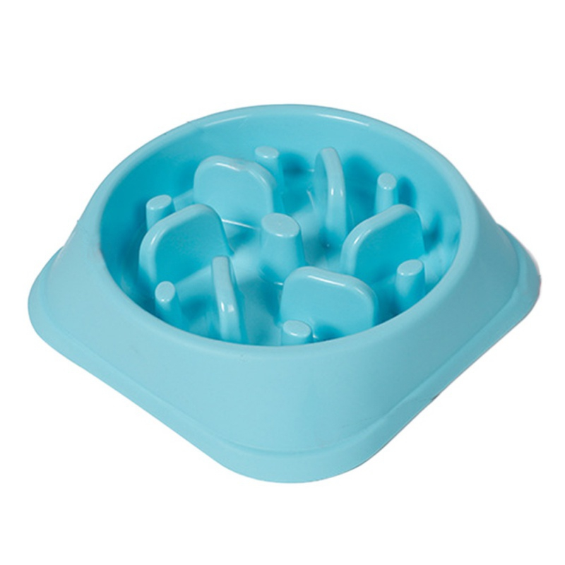 Anti-Choking Dog Bowl Jungle Bowl Healthy Food Slow Bowl Pet Bowl To Prevent Obesity 3 Color Plastic Dog Feeders