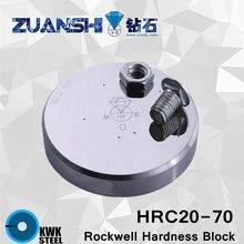 ロックウェルHRC20-70鱗cメタリックロックウェル硬度参考ブロックhrc硬度テスト標準ブロック硬度計