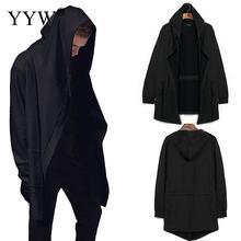 ФОТО 2017 assasins creed black hoodies men oversized kanye mens hooded cloak coat sweat trasher cotton streetwear jacket cosplay 3xl