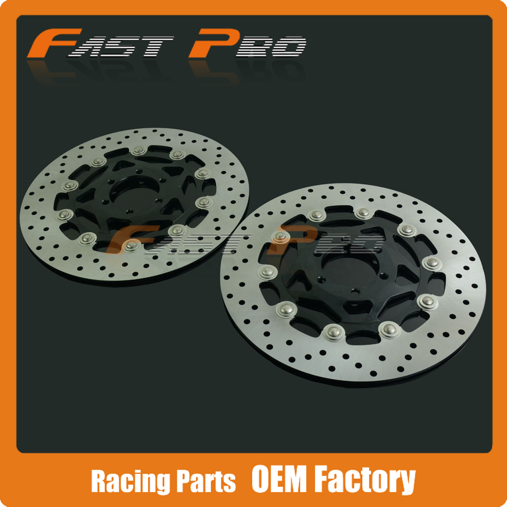 1 Pair Front Brake Disc Rotor For Yamaha FJ1200 TRX850 TDM850 FZ GENESIS 750 FZS FAZER 600 FZR600 XJR400 sintered copper motorcycle parts fa252 front brake pads for yamaha fzs 600 fazer 98 03