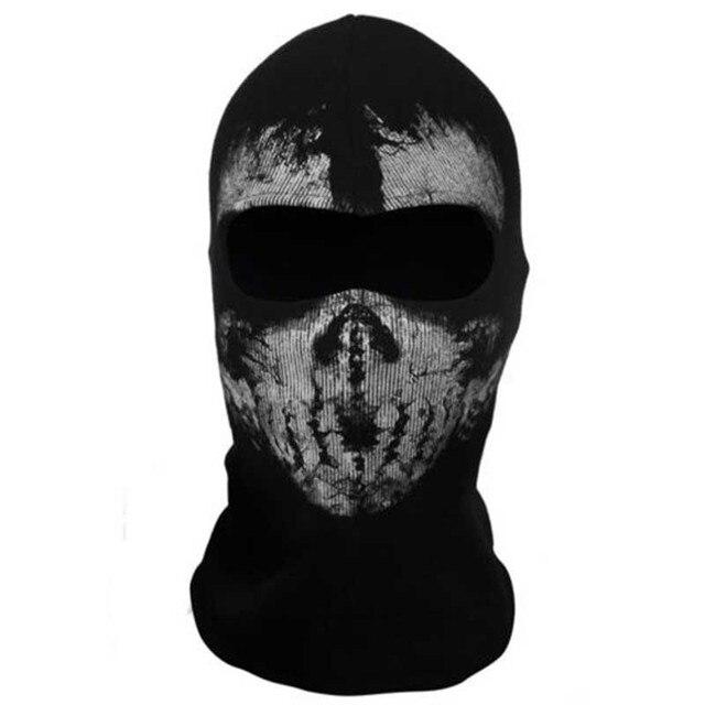 Mayitr 1pc Balaclava Skull Mask 4 Styles Ghost Skull Motorcycle Cycling Full Face Airsoft Game Cosplay Mask New 3