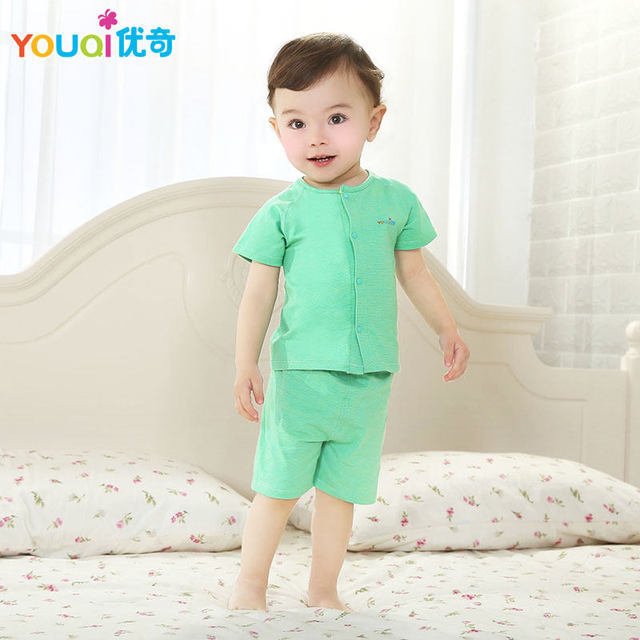 f5a6cec834279 YOUQI Baby Boy Clothes Summer Baby Girl Clothing Set Elastic 3 6 Months  T-shirt Pants Suit Short Sleeve Cute brand Costumes