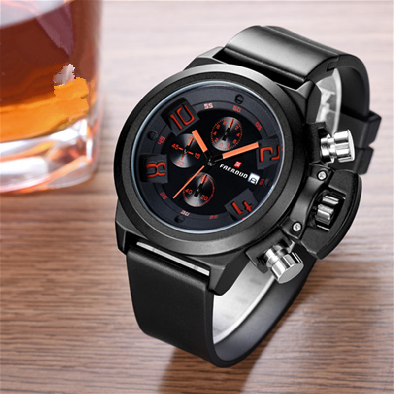 Belt simple business casual waterproof mens quartz watch 652#Belt simple business casual waterproof mens quartz watch 652#