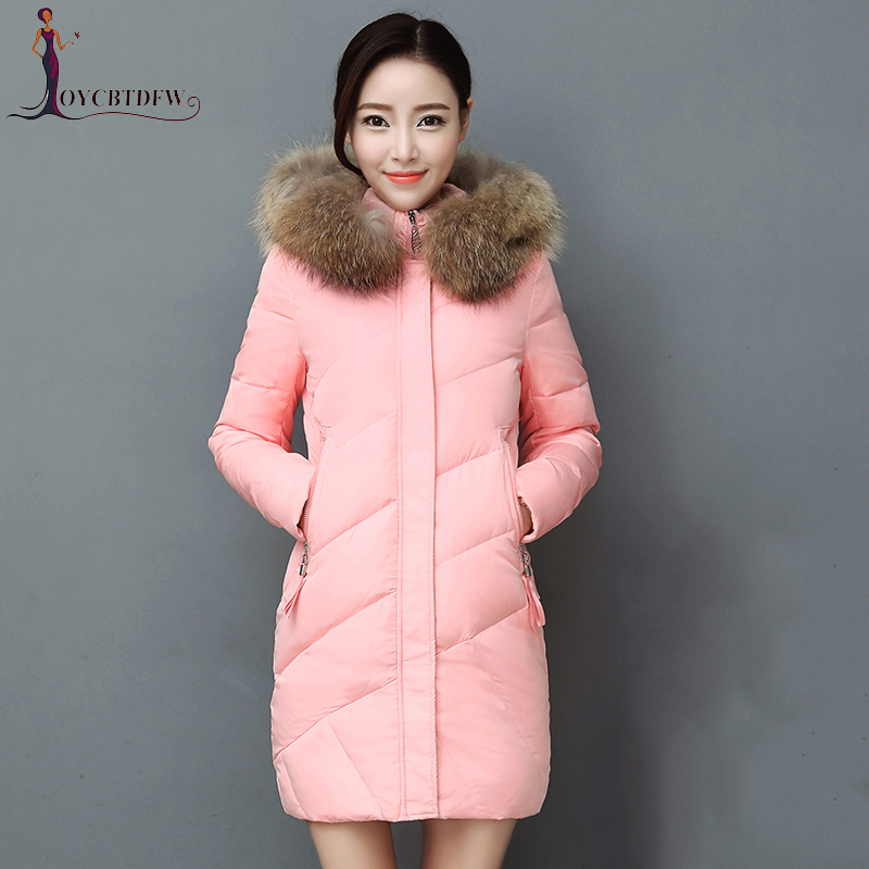 Women Top Fashion Jacket 2018 New Winter Parkas Female   Coat     Down   Plus Size Hooded Outerwear White Duck   Coats   No359
