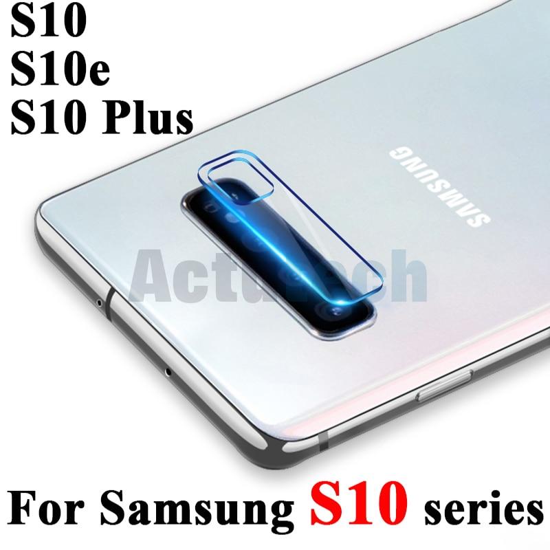 Objectif de caméra verre de protection sur le pour samsung galaxy s10 plus s10e S 10 10e galaxy protecteur d'écran verre trempé film de sécurité