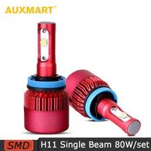 Auxmart G9 Led H11 H8 H9 SMD Car LED Headlights 80W 9600LM 6500K Fonrt Bulbs Dipped Single Beam Fog Lamps 12v 24v All-in-one SUV