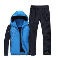 Зимний спортивный костюм мужской термальный спортивный костюм ветрозащитный Теплый фитнес спортивный комплект 2018 новый спортивный костюм