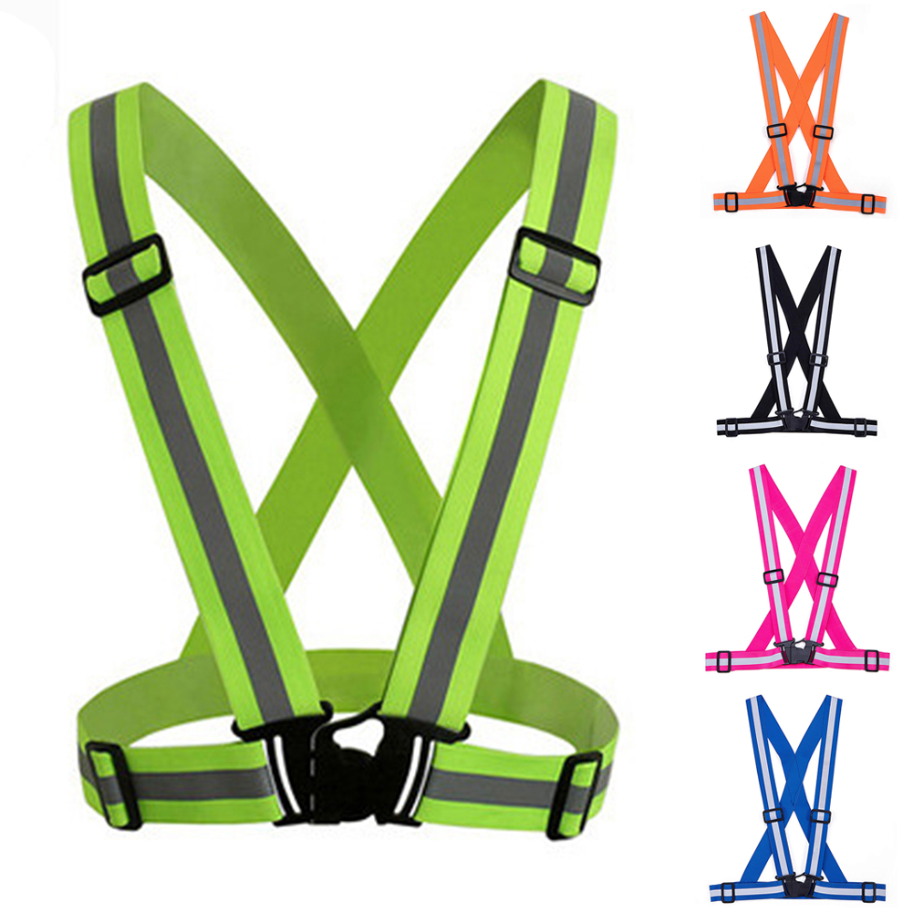Reflective Vest Adjustable Safety Vest Outdoor Reflective Belt Strips
