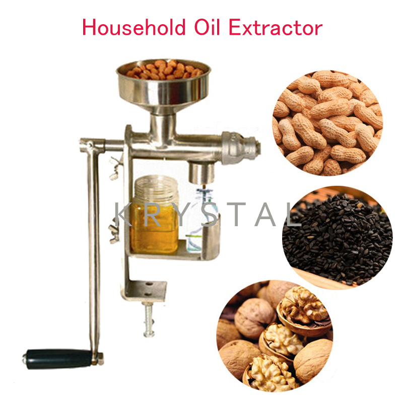 Manual Oil Press Machine Household Oil Extractor Peanut Nuts Seeds Oil Press Machine HY-03