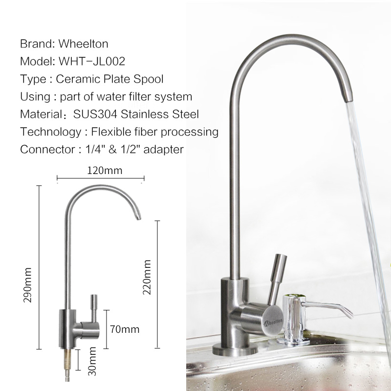 Wheelton RO Faucet 304 Stainless Steel Lead Free Kitchen Drinking Water Tap  For Filter Purify System Such As Reverse Osmosis In Water Filters From Home  ...