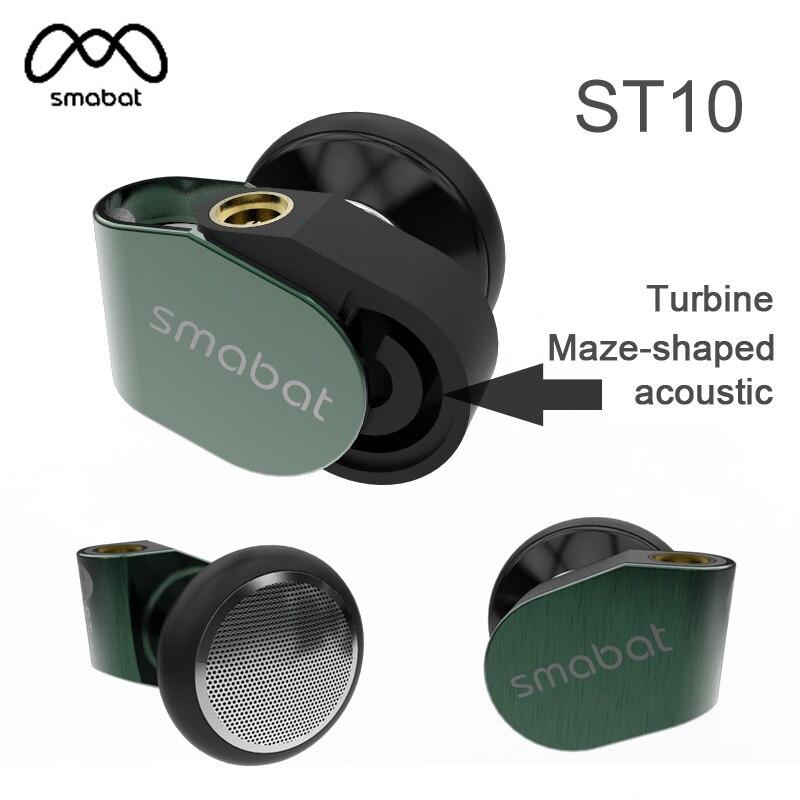 Smabat ST 10 Ear Hook Earbud HIFI Metal Earphone 15 4mm Dynamic Driver Smabat Flagship Earbud
