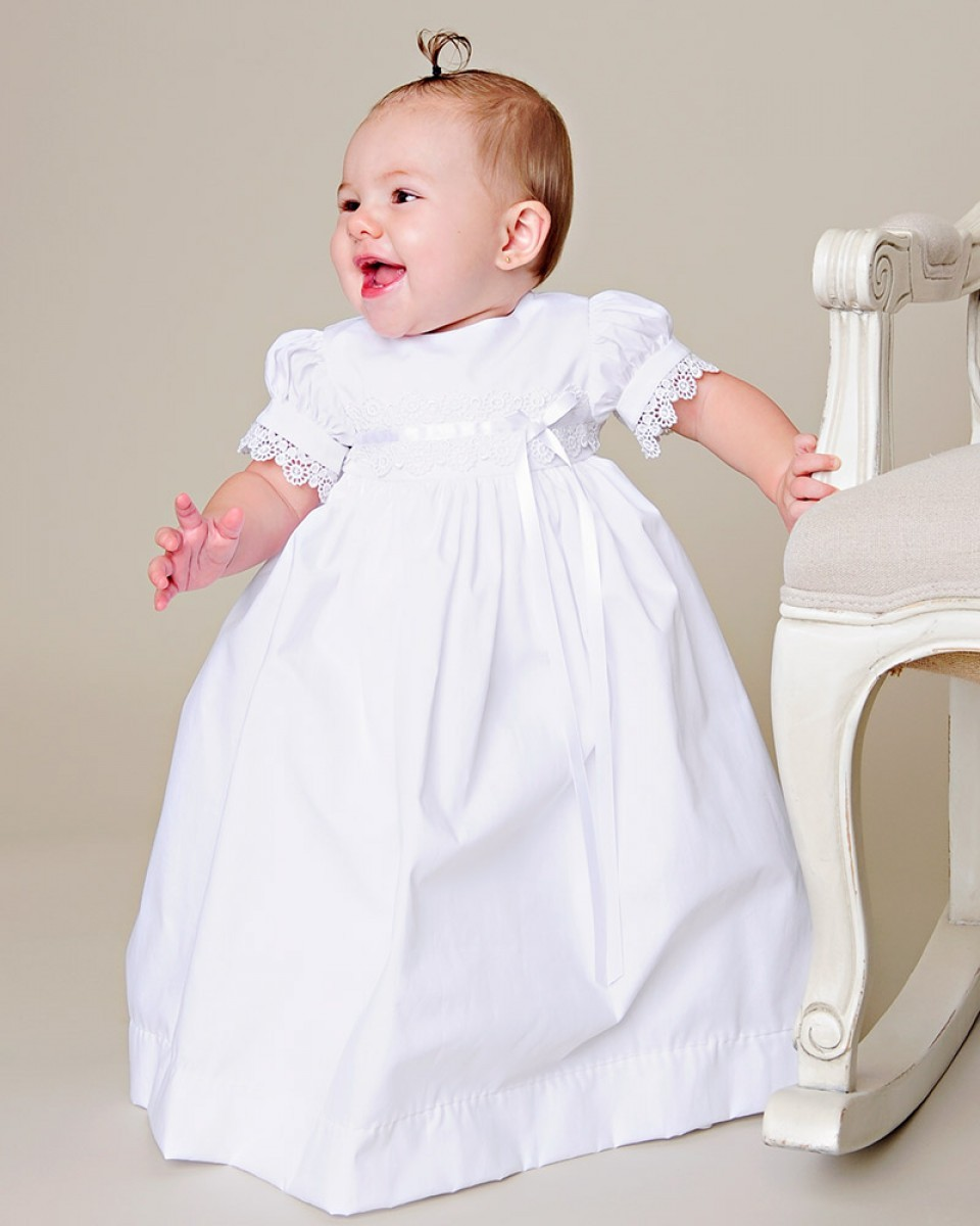 Simple Baptism Dress For Baby Girl