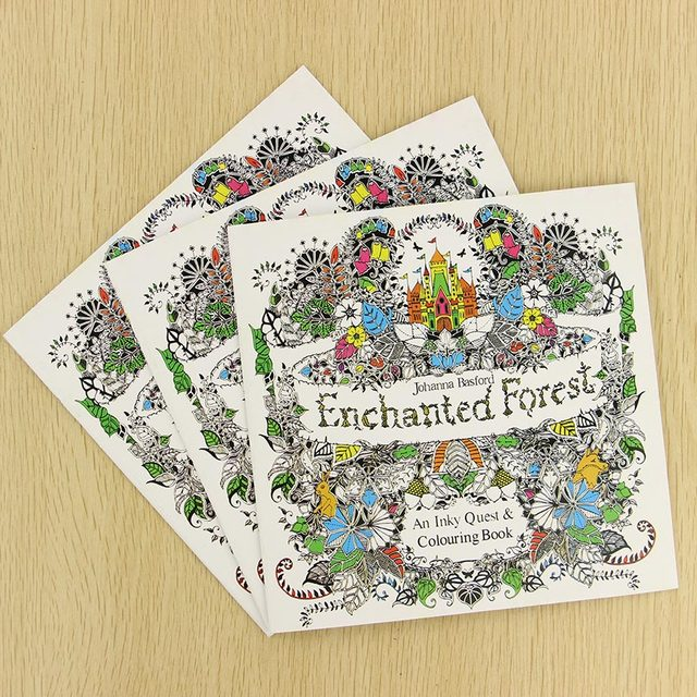 Fill Color Hand Painted Graffiti Coloring Books Ease The Pressure 24 Pages English Edition Enchanted Forest