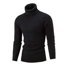 Turtleneck Men Long Sleeve Sweater Autumn Winter Elasticity Pullover Turtle Neck Twist Sweater Casual Fashion Simple Classic